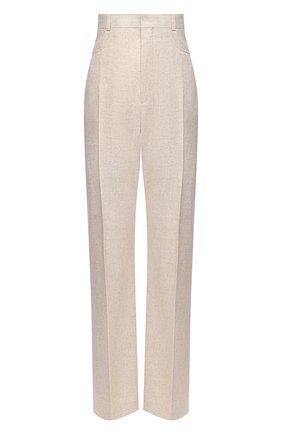 Женские брюки из льна и вискозы JACQUEMUS бежевого цвета, арт. 203PA01/124140 | Фото 1