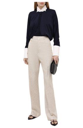 Женские брюки из льна и вискозы JACQUEMUS бежевого цвета, арт. 203PA01/124140 | Фото 2