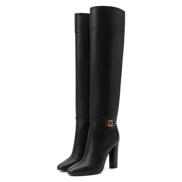 Кожаные сапоги Dolce & Gabbana