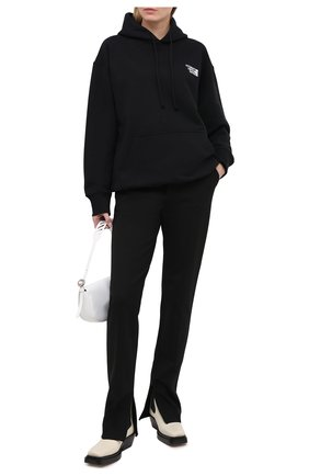 Женский хлопковое худи VETEMENTS черного цвета, арт. UE51TR730B 1604/W | Фото 2