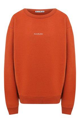 Женская хлопковый свитшот ACNE STUDIOS оранжевого цвета, арт. AI0067 | Фото 1