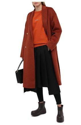 Женская хлопковый свитшот ACNE STUDIOS оранжевого цвета, арт. AI0067 | Фото 2