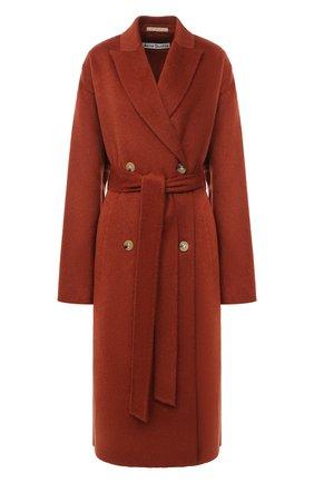 Женское шерстяное пальто ACNE STUDIOS коричневого цвета, арт. A90312 | Фото 1