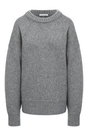 Женский свитер из шерсти и кашемира THE ROW серого цвета, арт. 325Y184   Фото 1