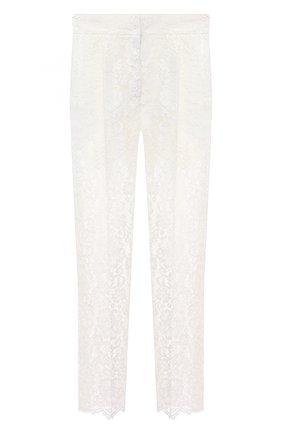 Женские брюки из хлопка и вискозы DOLCE & GABBANA белого цвета, арт. FTBP8T/HLMEA | Фото 1