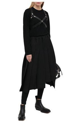 Женские леггинсы из вискозы DOLCE & GABBANA черного цвета, арт. FTBJQT/FU78Y | Фото 2