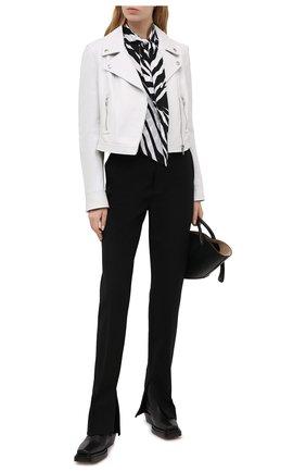 Женская кожаная куртка DOLCE & GABBANA белого цвета, арт. F9H26L/HULF5 | Фото 2