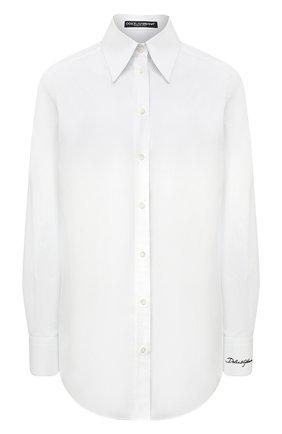 Женская хлопковая рубашка DOLCE & GABBANA белого цвета, арт. F5N08Z/GD0F7 | Фото 1