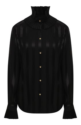 Женская шелковая блузка DOLCE & GABBANA черного цвета, арт. F5L84T/FJ1HS | Фото 1