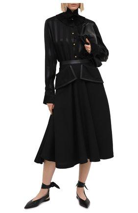 Женская шелковая блузка DOLCE & GABBANA черного цвета, арт. F5L84T/FJ1HS | Фото 2