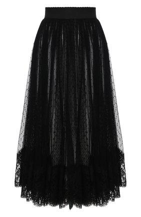 Женская юбка DOLCE & GABBANA черного цвета, арт. F4BZ7T/FLMJW | Фото 1
