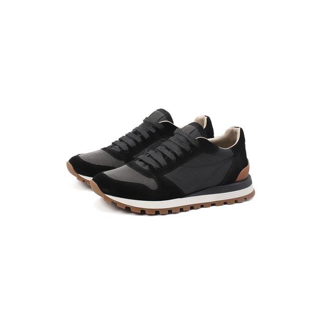 Замшевые кроссовки Brunello Cucinelli