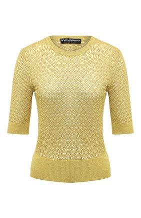 Женский пуловер из вискозы DOLCE & GABBANA золотого цвета, арт. FX854T/JAIED | Фото 1