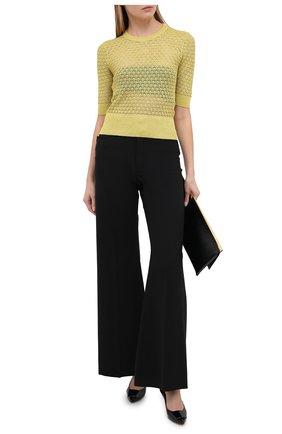 Женский пуловер из вискозы DOLCE & GABBANA золотого цвета, арт. FX854T/JAIED | Фото 2