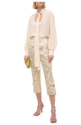 Женские брюки DOLCE & GABBANA розового цвета, арт. FTBT6Z/HJMLB | Фото 2