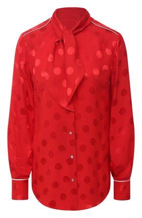 Женская шелковая блузка DOLCE & GABBANA красного цвета, арт. F5L77T/FJ1HR | Фото 1