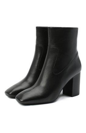 Женские кожаные ботильоны marcella MICHAEL MICHAEL KORS черного цвета, арт. 40F0MRHE5L   Фото 1