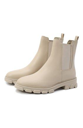 Женские кожаные ботинки ridley MICHAEL MICHAEL KORS бежевого цвета, арт. 40F0RIFE6L | Фото 1
