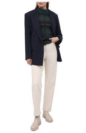 Женские кожаные ботинки ridley MICHAEL MICHAEL KORS бежевого цвета, арт. 40F0RIFE6L | Фото 2