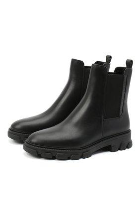 Женские кожаные ботинки ridley MICHAEL MICHAEL KORS черного цвета, арт. 40F0RIFE7L | Фото 1