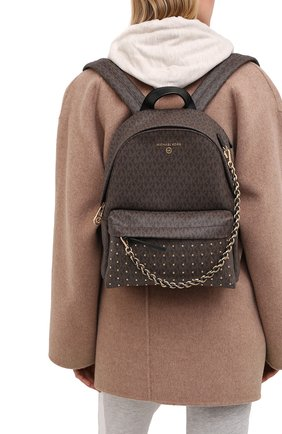 Женский рюкзак slater MICHAEL MICHAEL KORS коричневого цвета, арт. 30F0G04B2B | Фото 2
