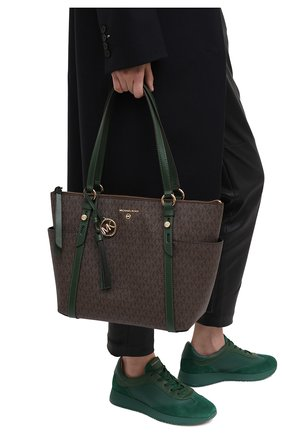 Женский сумка-шопер nomad MICHAEL MICHAEL KORS зеленого цвета, арт. 30T0GNXT2B | Фото 2