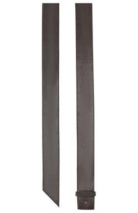 Женский кожаный ремень BRUNELLO CUCINELLI темно-серого цвета, арт. M0TAMC522 | Фото 2 (Материал: Кожа)