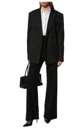 Женская хлопковая рубашка BRUNELLO CUCINELLI белого цвета, арт. M0091MA226 | Фото 2