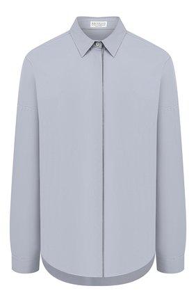 Женская хлопковая рубашка BRUNELLO CUCINELLI голубого цвета, арт. M0091MA226 | Фото 1