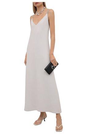 Женское платье BRUNELLO CUCINELLI светло-серого цвета, арт. MA029A4764 | Фото 2