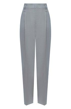 Женские брюки из льна и хлопка BRUNELLO CUCINELLI голубого цвета, арт. MF591P7589 | Фото 1