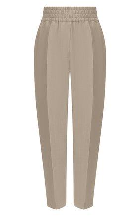Женские брюки из смеси вискозы и льна BRUNELLO CUCINELLI бежевого цвета, арт. MH126P7197 | Фото 1