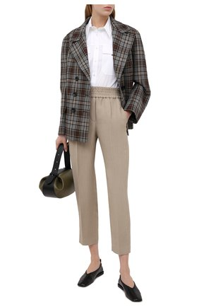 Женские брюки из смеси вискозы и льна BRUNELLO CUCINELLI бежевого цвета, арт. MH126P7197 | Фото 2