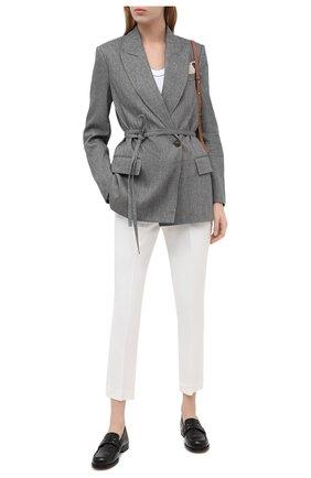 Женский льняной жакет BRUNELLO CUCINELLI серого цвета, арт. MH5072250 | Фото 2