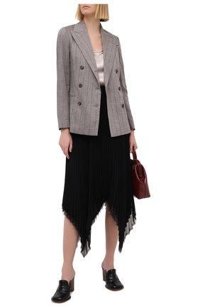Женский жакет из льна и шерсти BRUNELLO CUCINELLI серого цвета, арт. MH5082042 | Фото 2