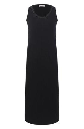 Женское хлопковое платье BRUNELLO CUCINELLI черного цвета, арт. MH968ABV81 | Фото 1