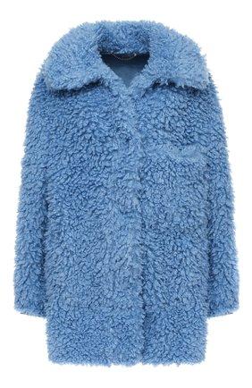 Женская шуба из экомеха STELLA MCCARTNEY голубого цвета, арт. 602409/SPB17   Фото 1