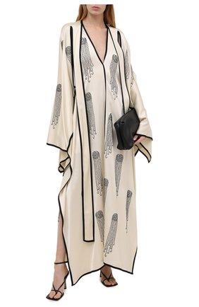 Женское платье из вискозы STELLA MCCARTNEY бежевого цвета, арт. 602163/SPA32 | Фото 2 (Женское Кросс-КТ: Платье-одежда; Стили: Романтичный; Рукава: Короткие; Материал внешний: Вискоза; Длина Ж (юбки, платья, шорты): Макси; Случай: Вечерний)