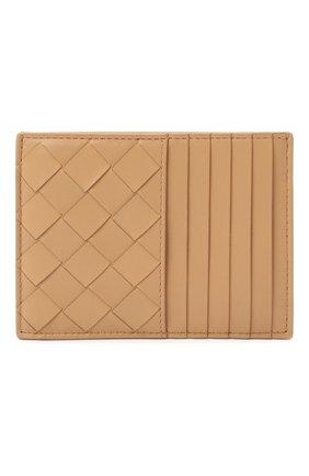 Женский кожаный футляр для кредитных карт BOTTEGA VENETA бежевого цвета, арт. 635043/VCPP3 | Фото 1