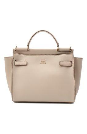 Женская сумка sicily 62 medium DOLCE & GABBANA бежевого цвета, арт. BB6891/A0041 | Фото 1