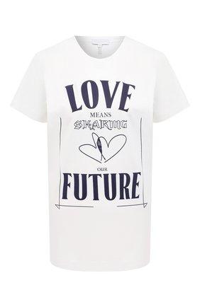 Женская хлопковая футболка ESCADA SPORT белого цвета, арт. 5034485 | Фото 1