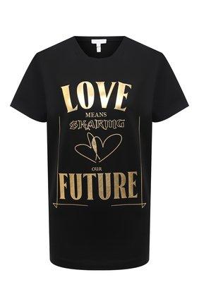 Женская хлопковая футболка ESCADA SPORT черного цвета, арт. 5034485 | Фото 1