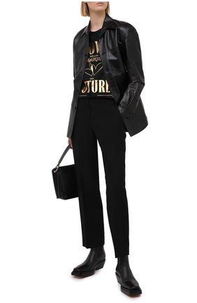 Женская хлопковая футболка ESCADA SPORT черного цвета, арт. 5034485 | Фото 2