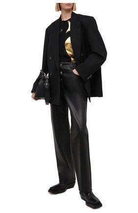 Женская хлопковая футболка ESCADA SPORT черного цвета, арт. 5034056 | Фото 2