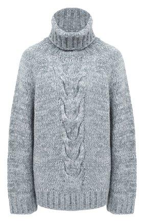Женский свитер DOLCE & GABBANA светло-серого цвета, арт. FXB84T/JBMA8 | Фото 1