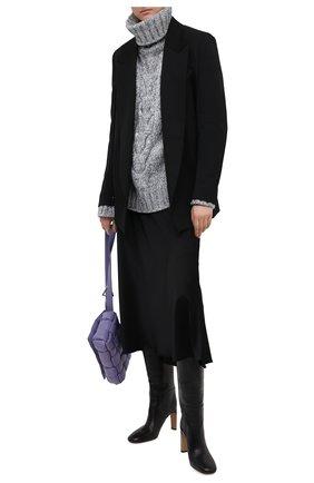 Женский свитер DOLCE & GABBANA светло-серого цвета, арт. FXB84T/JBMA8 | Фото 2