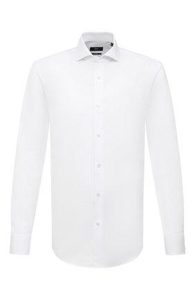 Мужская хлопковая сорочка BOSS белого цвета, арт. 50445894 | Фото 1