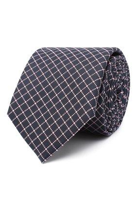 Мужской шелковый галстук BOSS темно-синего цвета, арт. 50446868 | Фото 1