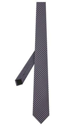Мужской шелковый галстук BOSS темно-синего цвета, арт. 50446868 | Фото 2