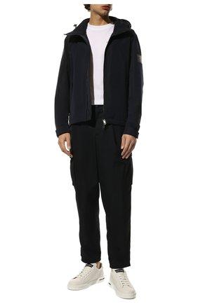 Мужская утепленная куртка BURBERRY синего цвета, арт. 8014364 | Фото 2